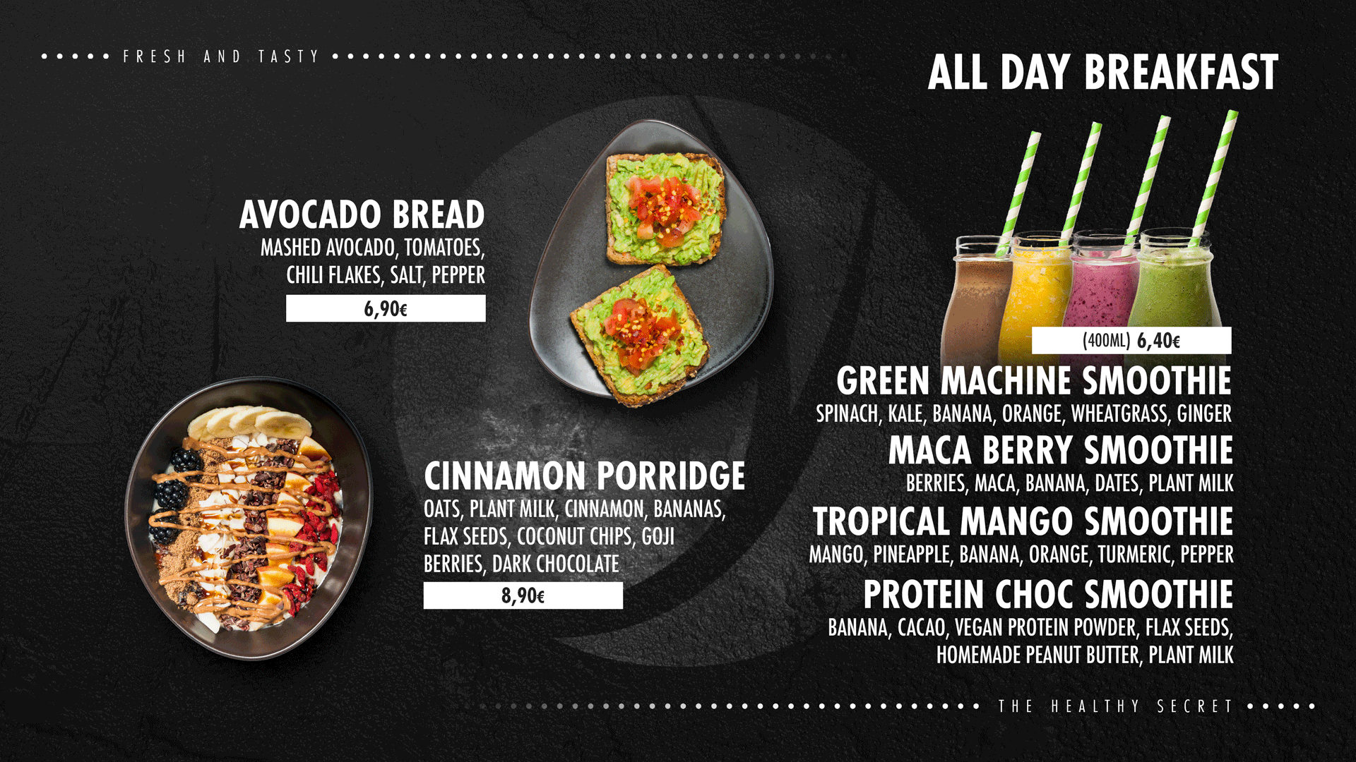 all day breakfast + smoothies