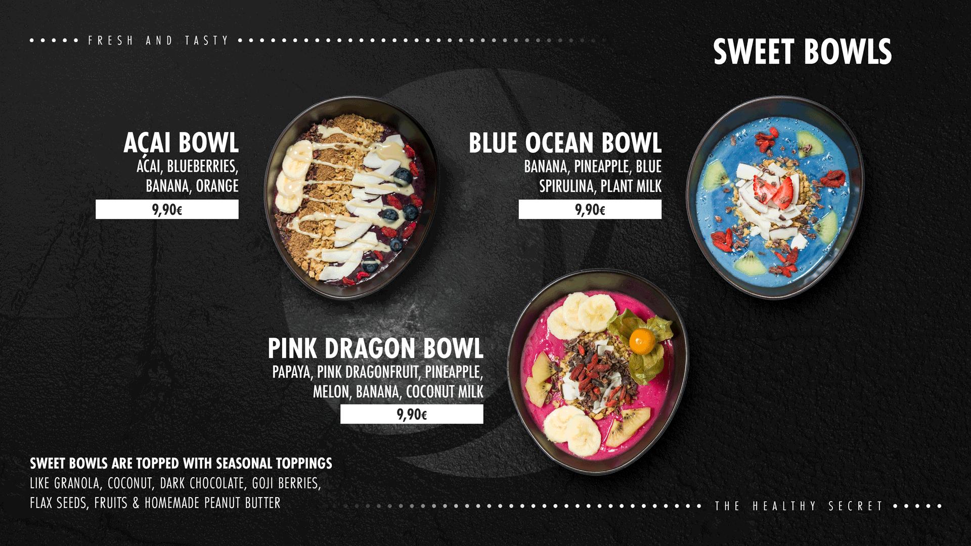 sweet bowls